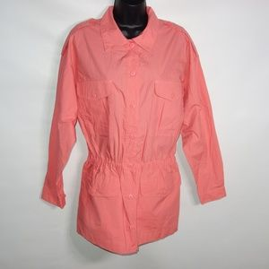 Crazy Horse Jacket Women 10 Cotton Trench Pink